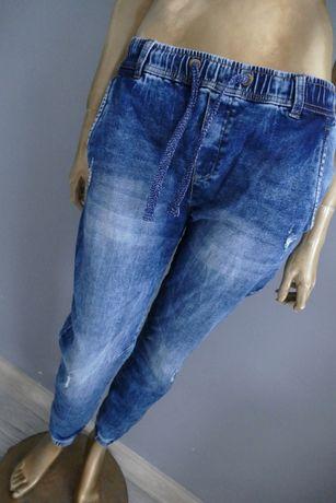 Diverse nowe spodnie jeansowe Joggery przecierane M-L