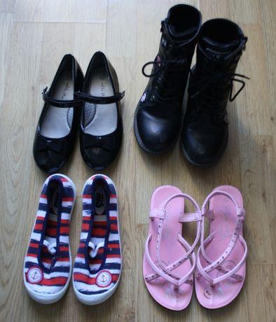 Buty 4 pary kozaki trampki baleriny sandały rozmiar 33