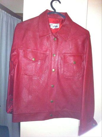 Casaco de napa vermelho, tamanho M