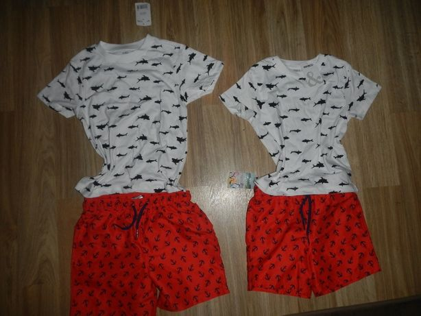 ZESTAW Spodenki koszulki 2-3 i 5-6 lat NOWE na lato