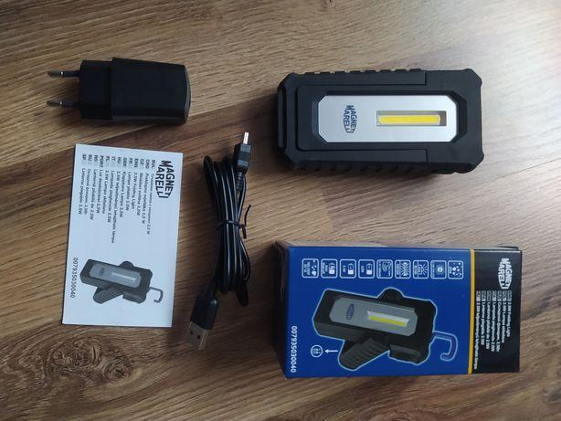 Lampa, latarka warsztatowa LED, akumulatorowa nowa