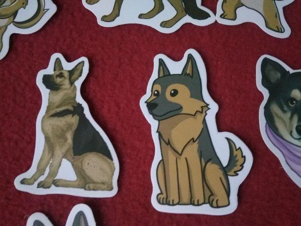 50 sztuk naklejki Owczarek niemiecki pies piesek