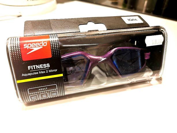 Okulary pływackie Aquapulse Max 2 Mirror Speedo (bramble/black/purple)