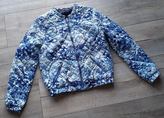 Niebieska elegancka kurteczka r. S/M ubrana raz