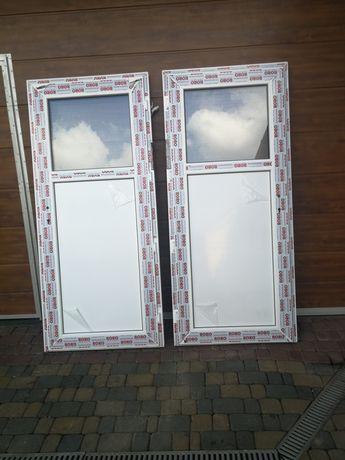 Drzwi 90x200 PVC plastikowe garażowe gospodarcze przemysłowe.