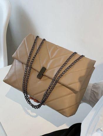 Новая бежевая сумка, рюкзак, сумочка