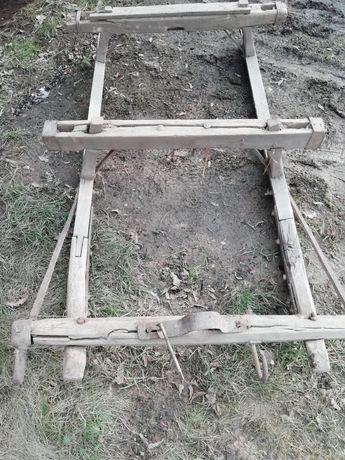 Stare sanie konne metalowe płozy. Możliwość transportu
