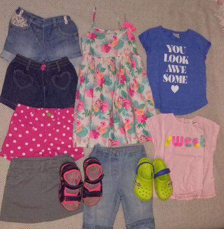 Пакет летних вещей на девочку 2-4 года