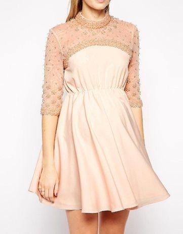 Piękna Elegancka sukienka Skater Asos Ciążowa R.38(M)UK10