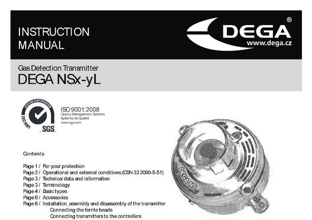 Датчикк обнаружения газов DEGA - NSL
