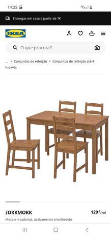 Mesa com cadeiras ikea como novo
