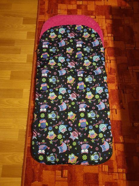 Śpiwór do wózka ochraniacz na zimę minky