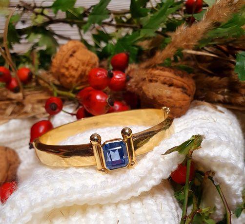 Złota bransoletka ze spinelem 585 certyfikat