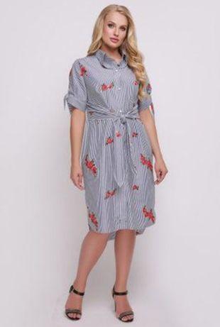 Платье рубашка р. 58