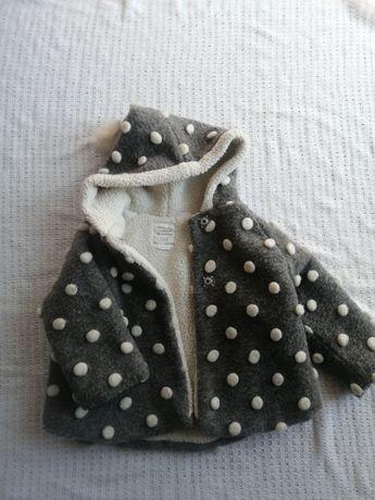 Zara płaszczyk z pomponami dla dziewczynki r 92