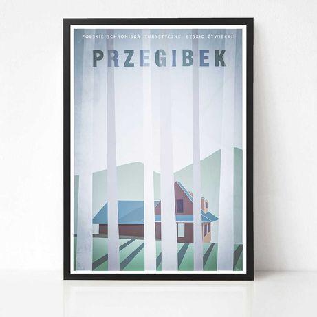 Przegibek plakat Polskie Schroniska Turystyczne Beskidy