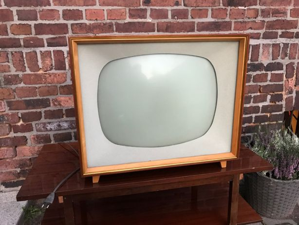 Telewizor lampowy Rafena RECORD 7 / produkcja NRD / antyk PRL retro
