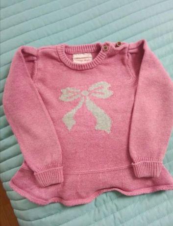 Sweterek różowy 12-18m Young Dimension