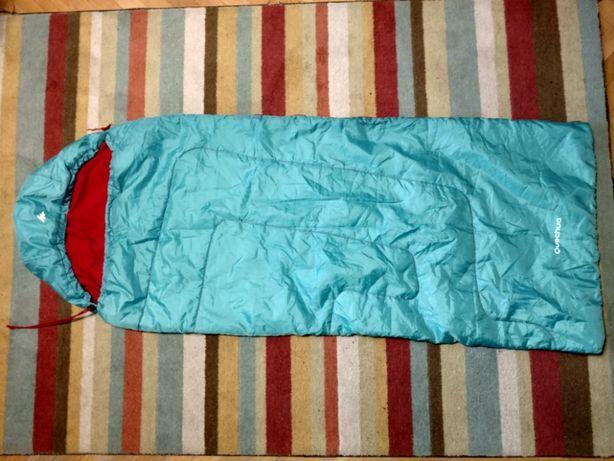 Śpiwór Quechua,decathlon, dla dziewczynki błekitny
