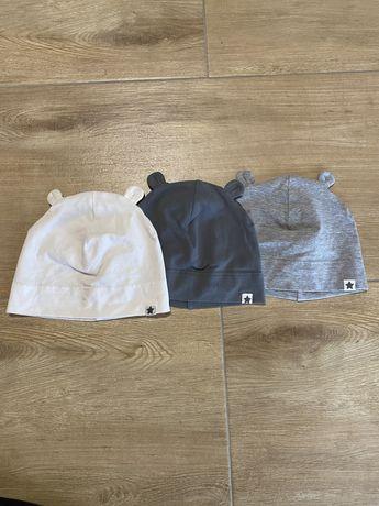 3 szt czapeczki czapki H&M 86 / 92 bawełniane