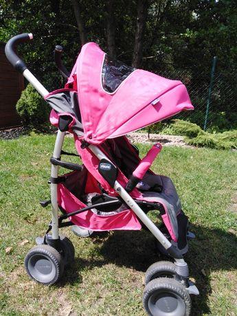 Wózek różowa spacerówka chicco