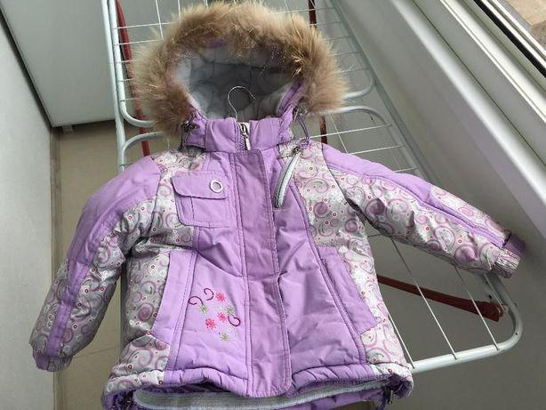 Куртка зимняя на девочку 2-3,5 лет