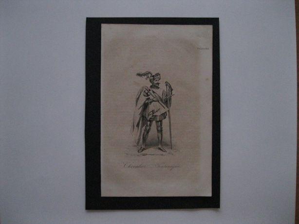 Staloryt XIX w. Rycerz krzyżacki Krzyżak