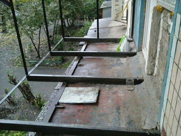 Ремонт балконов под ключ, вынос по полу и подоконнику.