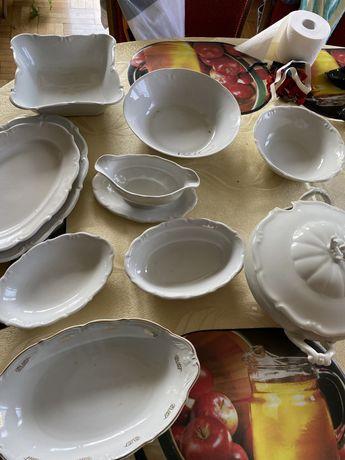 Komplet obiadowy porcelana waza na zupę