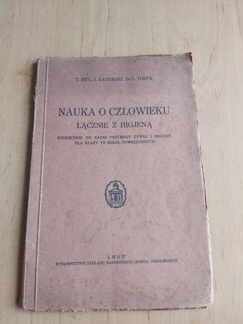 Stara książka -Nauka o człowieku łącznie z higjeną