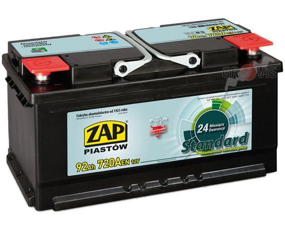 NOWY Akumulator 12V 92Ah 720A P+ Standard ZAP 88 90Ah 95Ah 100 Dostawa