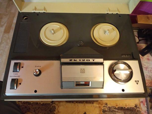 Magnetofon szpulowy ZK 120T Unitra  (tranzystorowy)