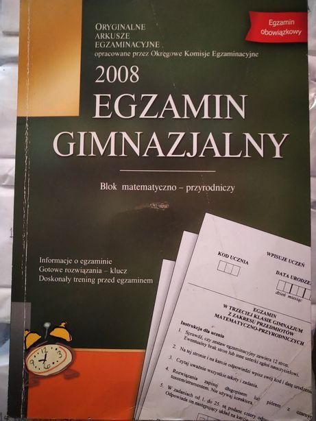 Egzamin gimnazjalny2008.Oryginalne Arkusze egzaminacyjne przez OKE.