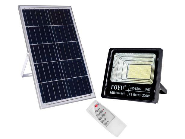 Уличный LED прожектор FOYU 200 Вт на солнечной батарее