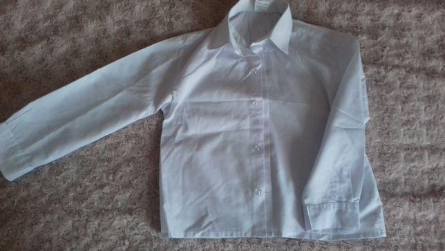 Koszula biała galowa dla chłopca r. 110