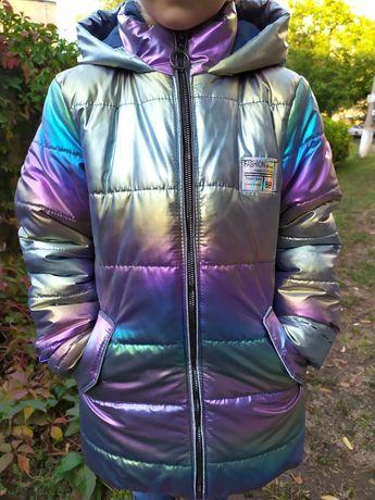 Курточка куртка демисезонная подростковая Хамелеон для девочки.