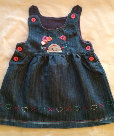 Urocza sukieneczka jeansowa r. 68