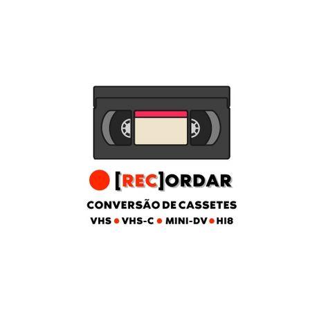 Conversão de Cassetes VHS / Mini DV / VHS-C para formato digital
