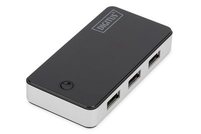 DIGITUS DA-70231 USB 3.0 Hub, 4-port black, Хаб 4 порти 3.0