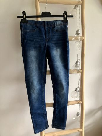 Legginsy jeansowe 134