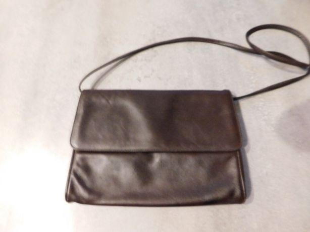 Oddam za darmo skórzaną torebkę damską, kolor brązowy