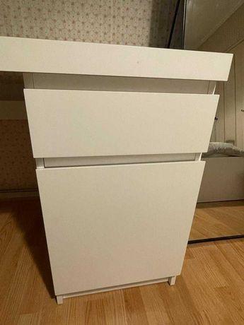 Secretária branca MALM IKEA 140x65