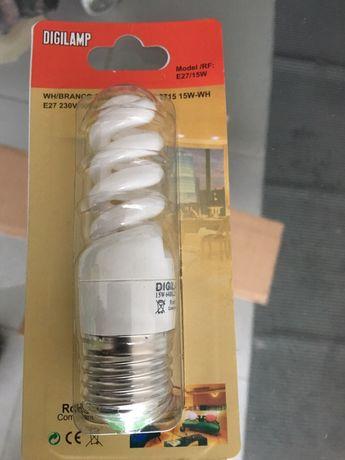 3 Lampadas económicas fluorescentes