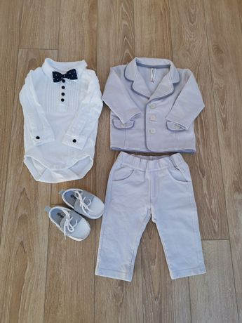 Ubranko do chrztu dla chłopca garnitur Coccodrillo r. 68 gratis Zara