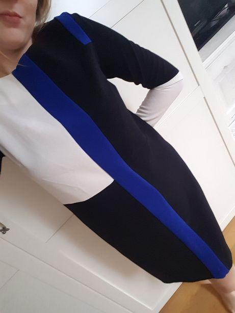 Sukienka Tunika Marks&spencer m&s geometryczna elegancka S 36 NOWA