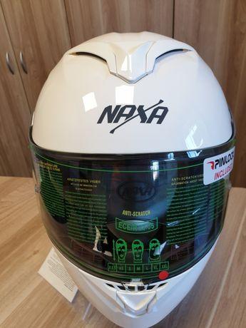 Kask szczękowy NAXA F05/A,+Blenda+Pinlock !!!Biały Połysk.