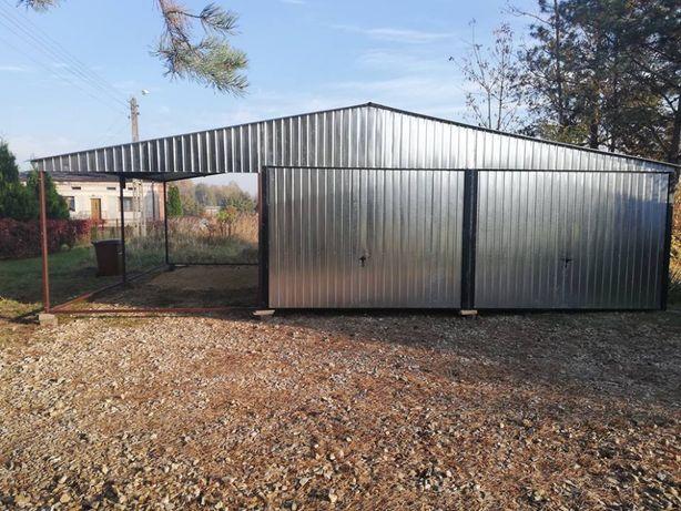 Garaz blaszany 9x6m blacha ocynkowana