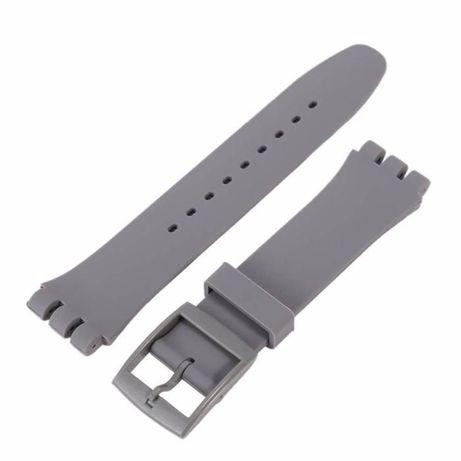 Braceletes Cinza Para swatch - de17, 19 e 20mm NOVAS-Oferta de portes