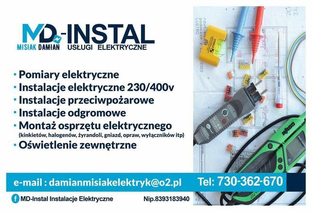 MD-INSTAL usługi elektryczne,elektryk,instalacje elektryczne,pomiary