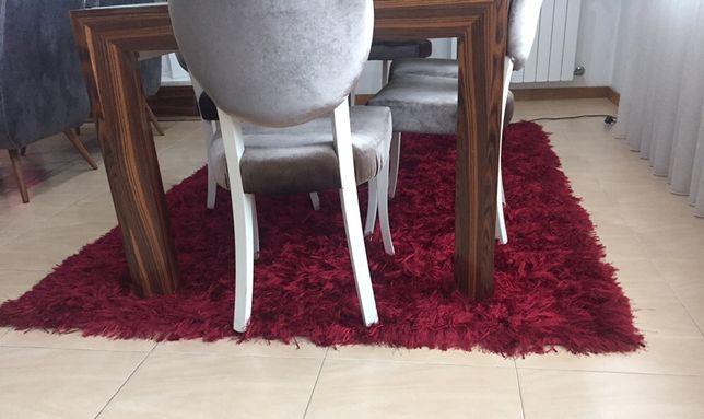 Carpete Pelo Longo Vermelha